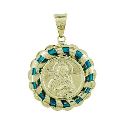 Φυλαχτό με την Παναγία Aπό Κίτρινο Χρυσό για Κοριτσάκι K9 PA557