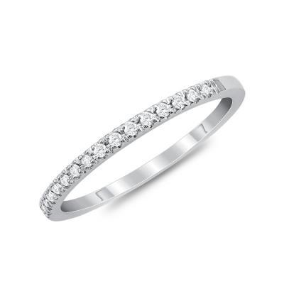 Σειρέ Δαχτυλίδι Με Διαμάντια Brilliant από Λευκό Χρυσό Κ18 DX869