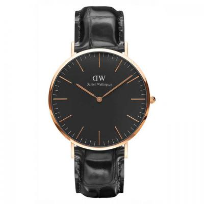 Daniel Wellington Classic Black Reading Rose Gold Black Leather Strap DW00100129