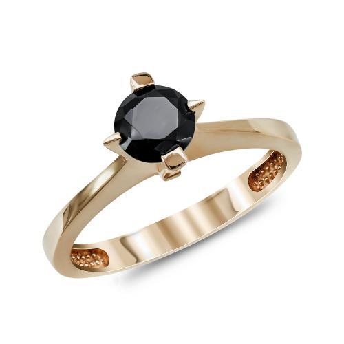 Μονόπετρο Δαχτυλίδι από Ροζ Χρυσό Κ14 DX522