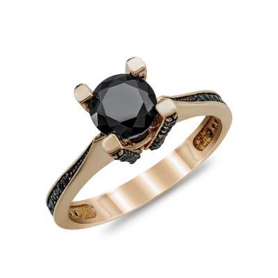 Μονόπετρο Δαχτυλίδι από Ροζ Χρυσό Κ14 DX86144