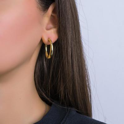 Σκουλαρίκια Κρίκοι από Κίτρινο Χρυσό Κ14 SK1240