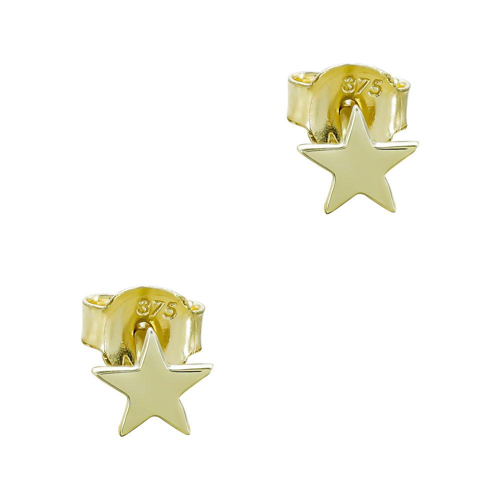 Παιδικά Σκουλαρίκια Αστεράκια από Kίτρινο Χρυσό Κ9 PSK460