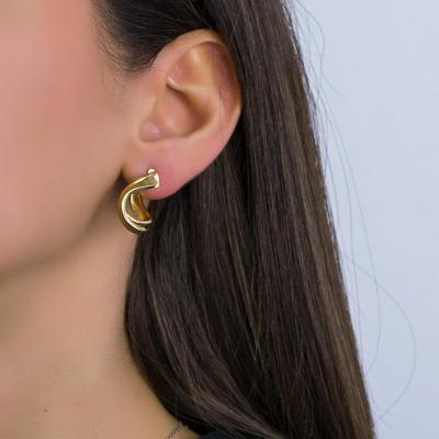 Σκουλαρίκια Κρίκοι από Κίτρινο Χρυσό Κ14 SK1247