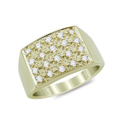 Δαχτυλίδι Σεβαλιέ από Κίτρινο Χρυσό Κ9 DX872