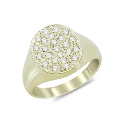 Δαχτυλίδι Σεβαλιέ από Κίτρινο Χρυσό Κ9 DX871