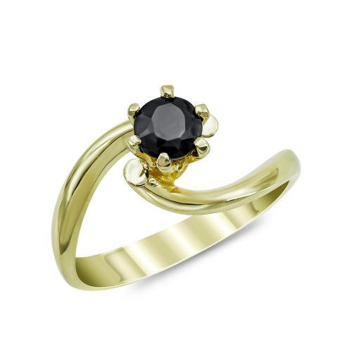 Moνόπετρο Δαχτυλίδι από Κίτρινο Χρυσό Κ14 DX877