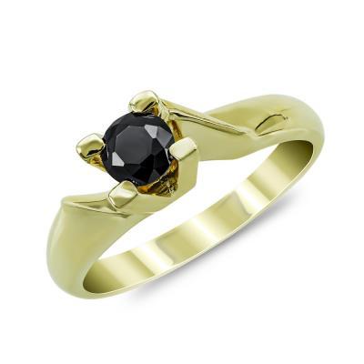 Moνόπετρο Δαχτυλίδι από Κίτρινο Χρυσό Κ14 DX875