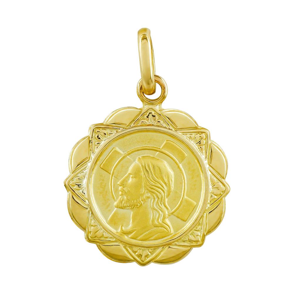 Φυλαχτό με τoν Xριστό Aπό Κίτρινο Χρυσό K14 PA539