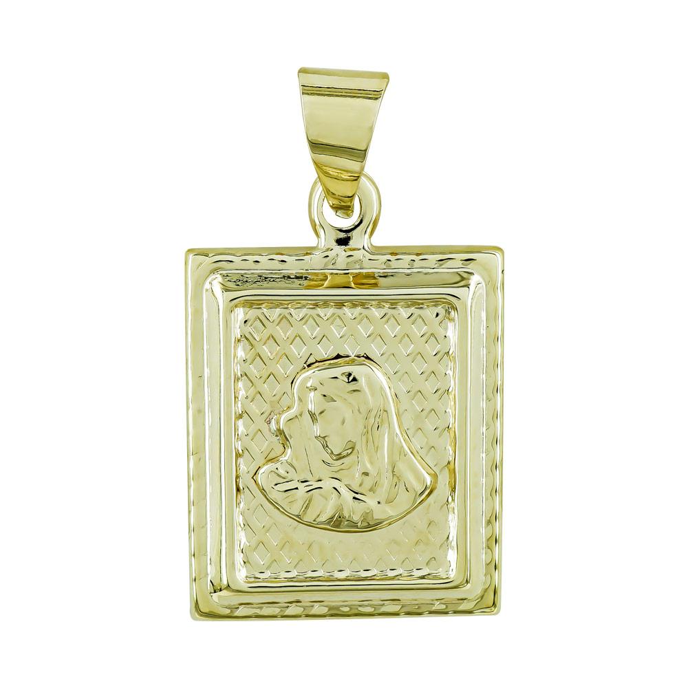 Φυλαχτό με την Παναγία Aπό Κίτρινο Χρυσό K9 PA544