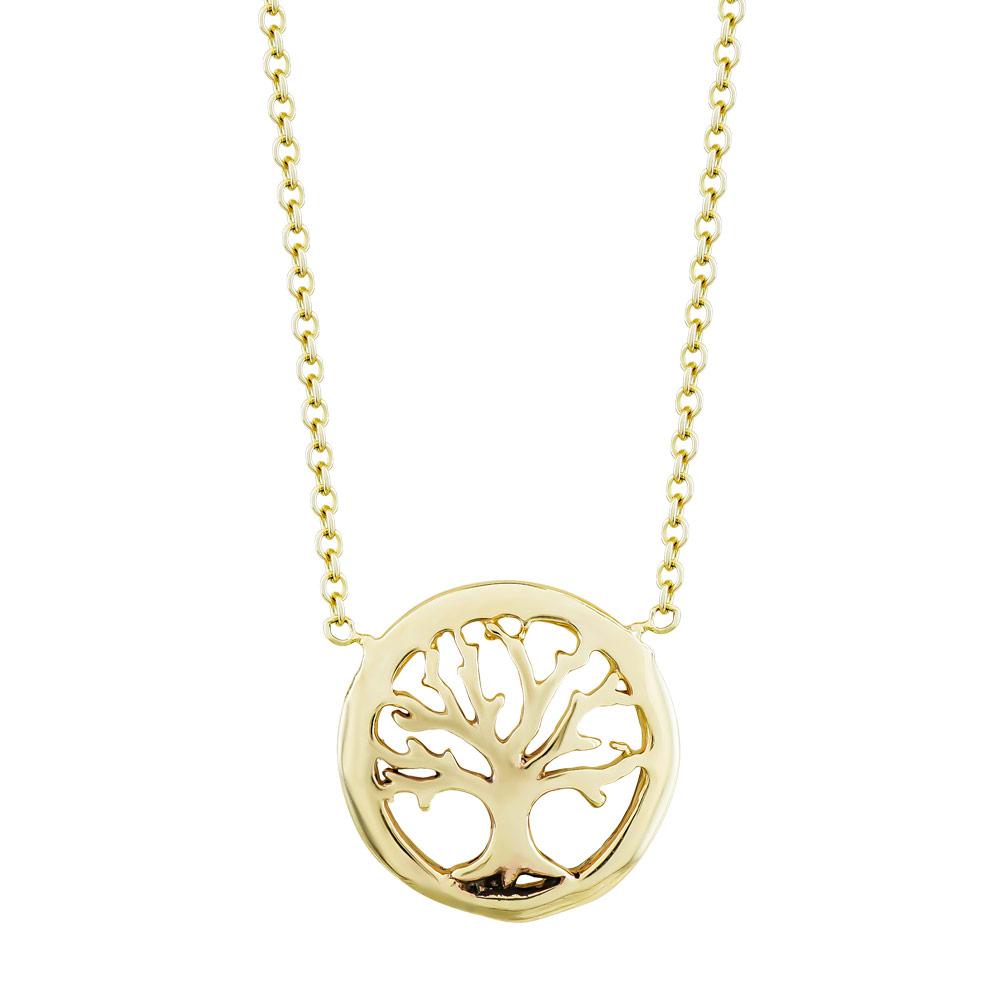 Κολιέ Mε Το Δέντρο της Ζωής από Κίτρινο Χρυσό Κ9 KL098678