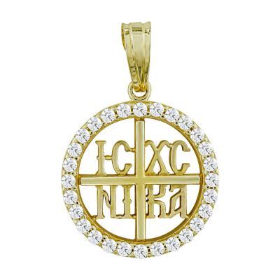 Κωνσταντινάτο Από Κίτρινο Χρυσό Κ14 KN289