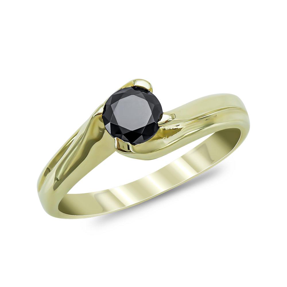 Moνόπετρο Δαχτυλίδι από Κίτρινο Χρυσό Κ14 DX876