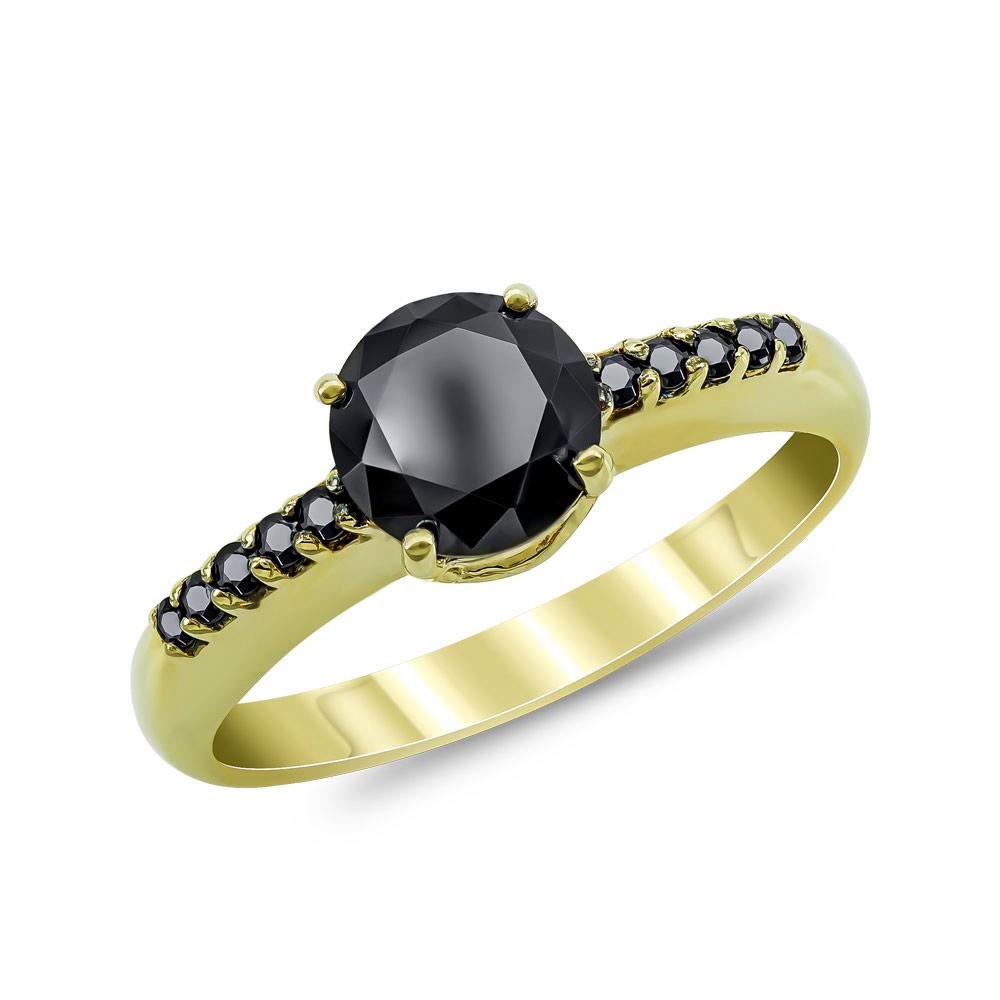 Μονόπετρο Δαχτυλίδι από Κίτρινο Χρυσό Κ14 DX52746