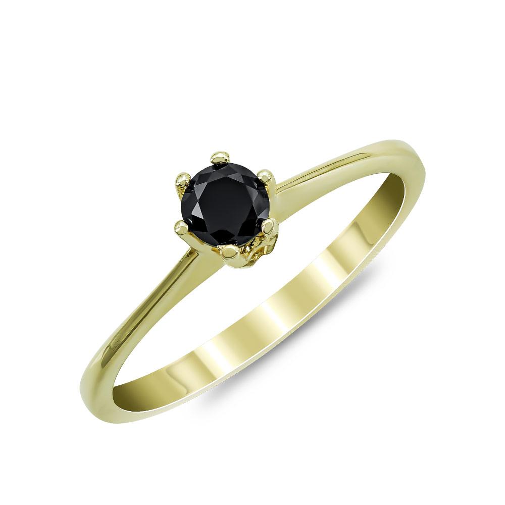 Moνόπετρο Δαχτυλίδι από Κίτρινο Χρυσό Κ14 DX878