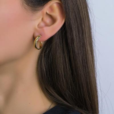 Σκουλαρίκια Κρίκοι από Κίτρινο Χρυσό Κ14 SK1241
