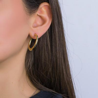 Σκουλαρίκια Κρίκοι από Κίτρινο Χρυσό Κ14 SK1243