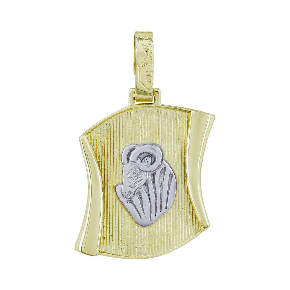 Ζώδιο Κριός σε Πάπυρο από Δίχρωμο Χρυσό Κ14 ZD240