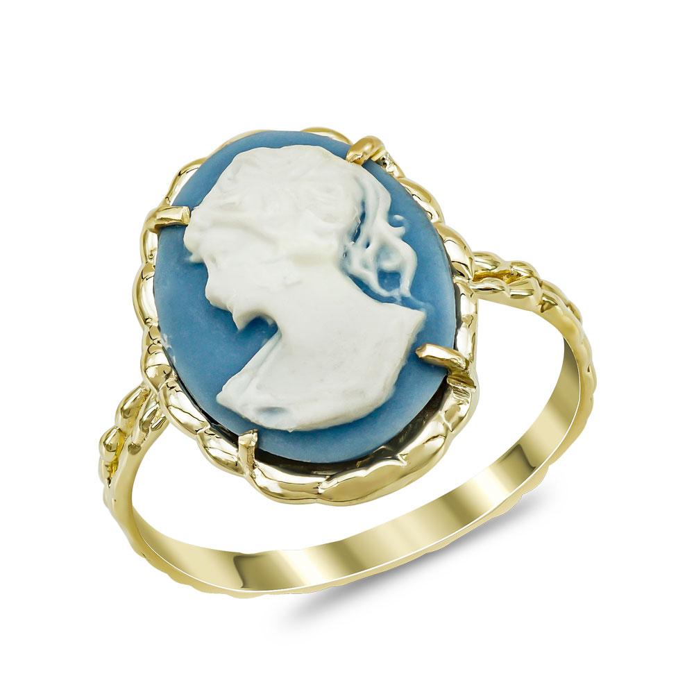 Δαχτυλίδι Cameo από Κίτρινο Χρυσό Κ14 DX976