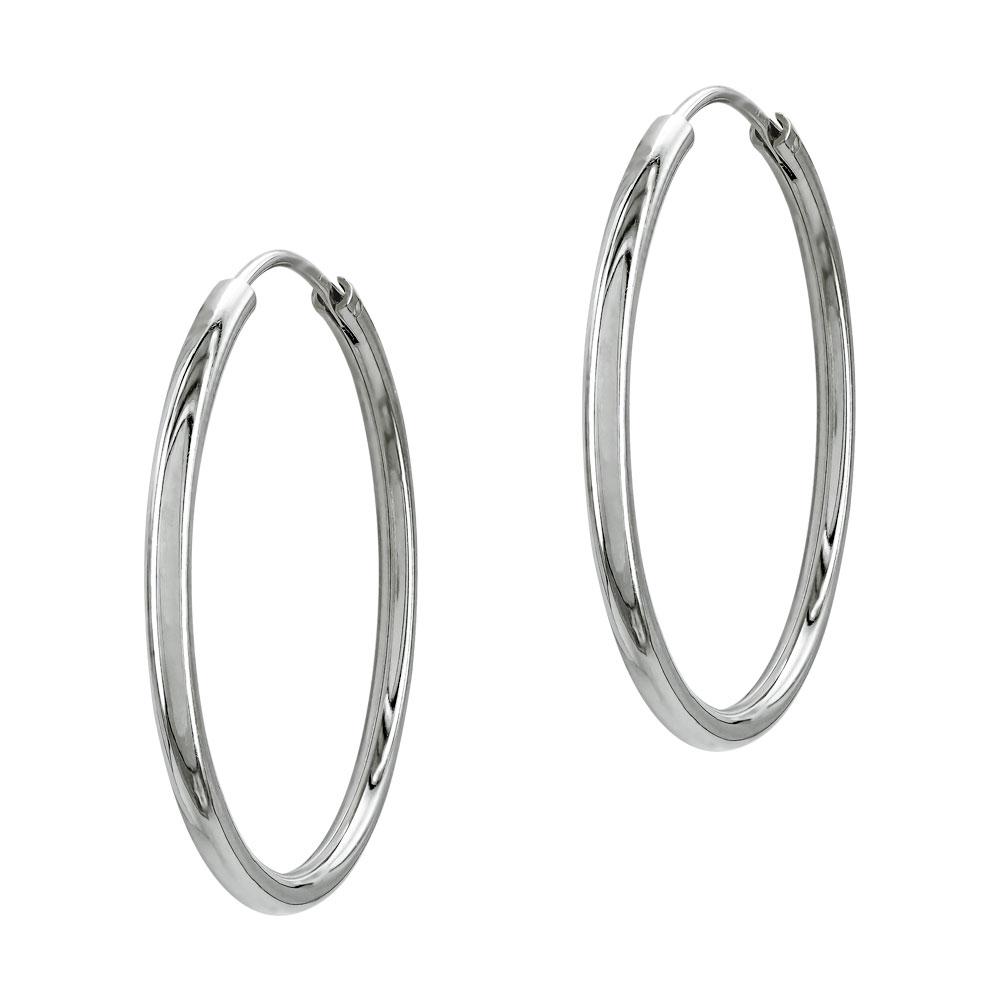 Σκουλαρίκια Κρίκοι Από Ασήμι SK1268