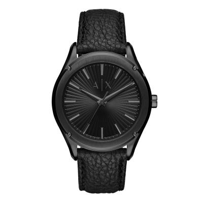 ARMANI EXCHANGE Fitz Black Leather Strap AX2805