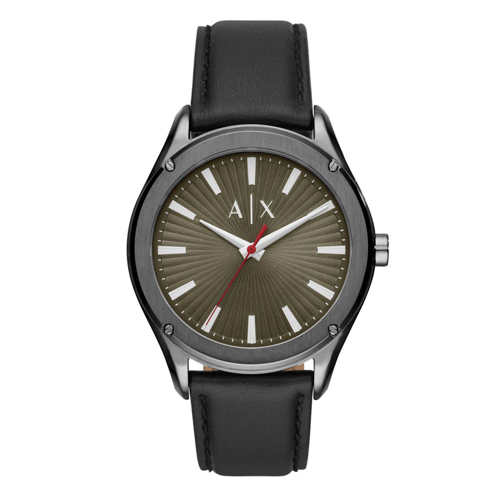 ARMANI EXCHANGE Fitz Black Leather Strap AX2806