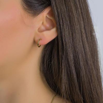 Σκουλαρίκια Κρίκοι Από Επιχρυσωμένο Ατσάλι SK1278
