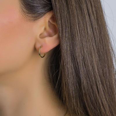 Σκουλαρίκια Κρίκοι Από Επιχρυσωμένο Ατσάλι SK1275
