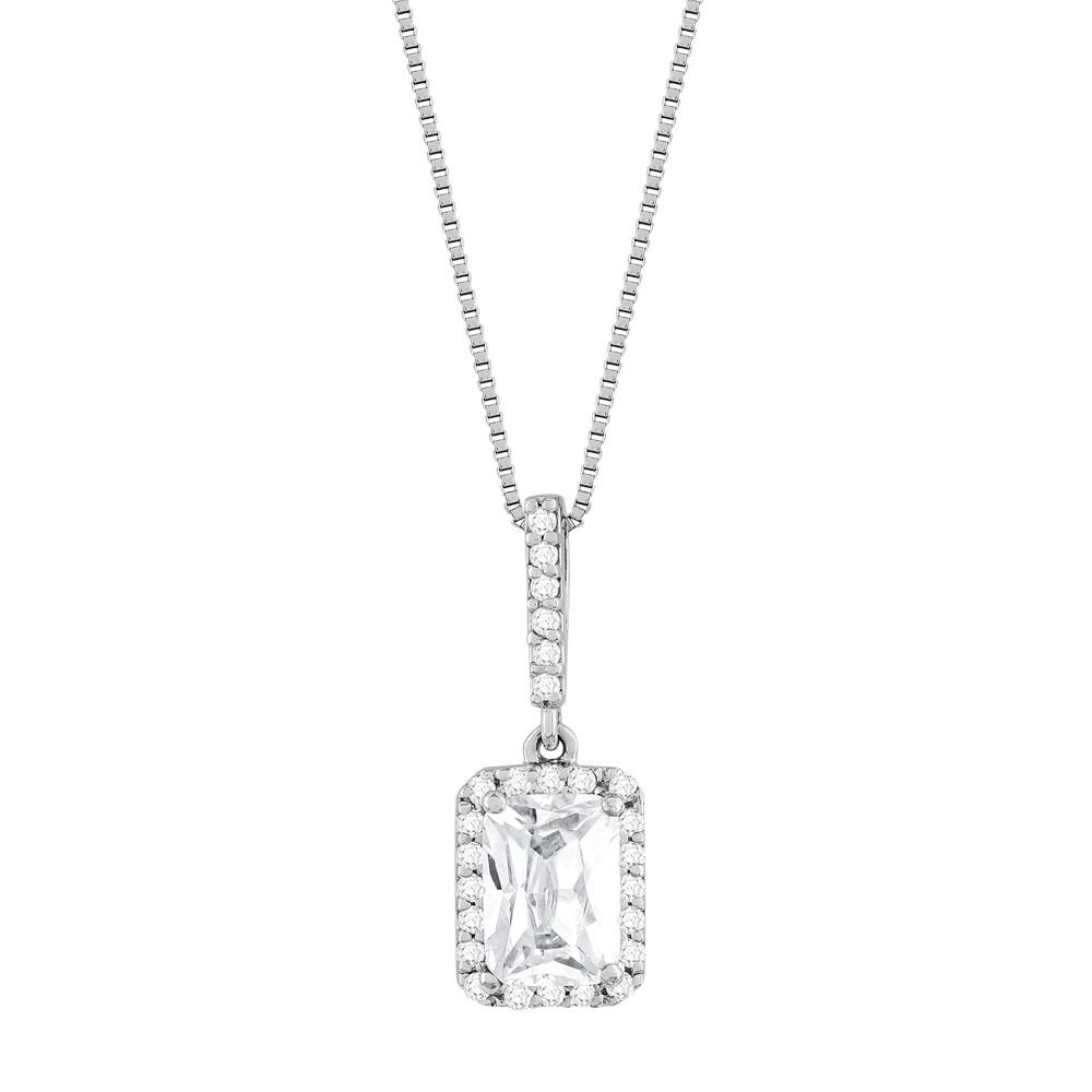 Koλιέ Με Διαμάντια Brilliant από Λευκό Χρυσό K18 KL33037