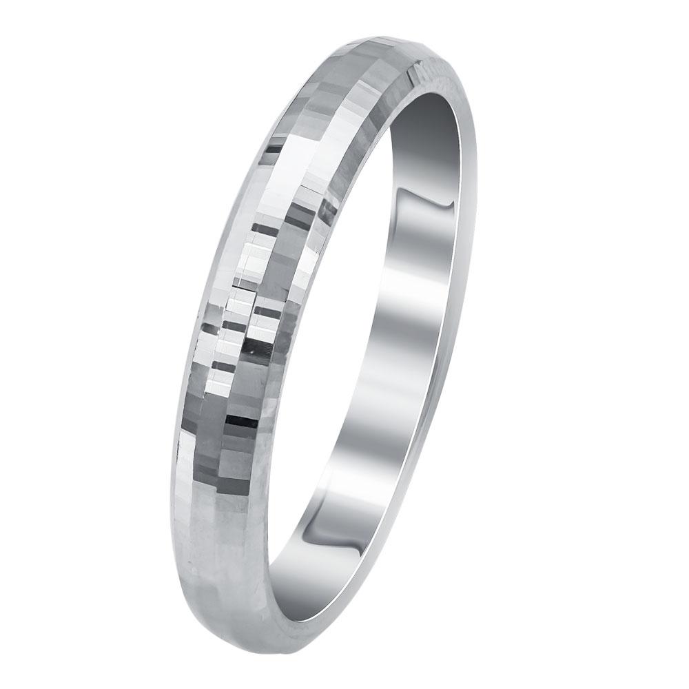 Λευκή Χρυσή Βέρα Γάμου WR340W