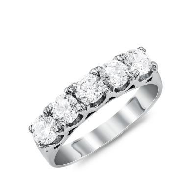 Σειρέ Δαχτυλίδι από Λευκό Χρυσό Κ14 DX904