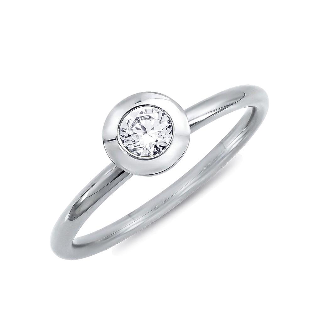 Μονόπετρο Δαχτυλίδι Breuning Με Διαμάντια Brilliant από Λευκό Χρυσό K18 DDX4758