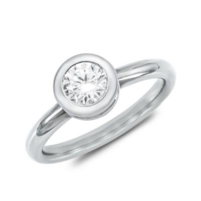 Μονόπετρο Δαχτυλίδι Με Διαμάντια Brilliant από Λευκό Χρυσό K18 DDX4783W