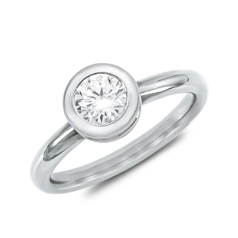 Μονόπετρο Δαχτυλίδι Breuning Με Διαμάντια Brilliant από Λευκό Χρυσό K18 DDX4783W