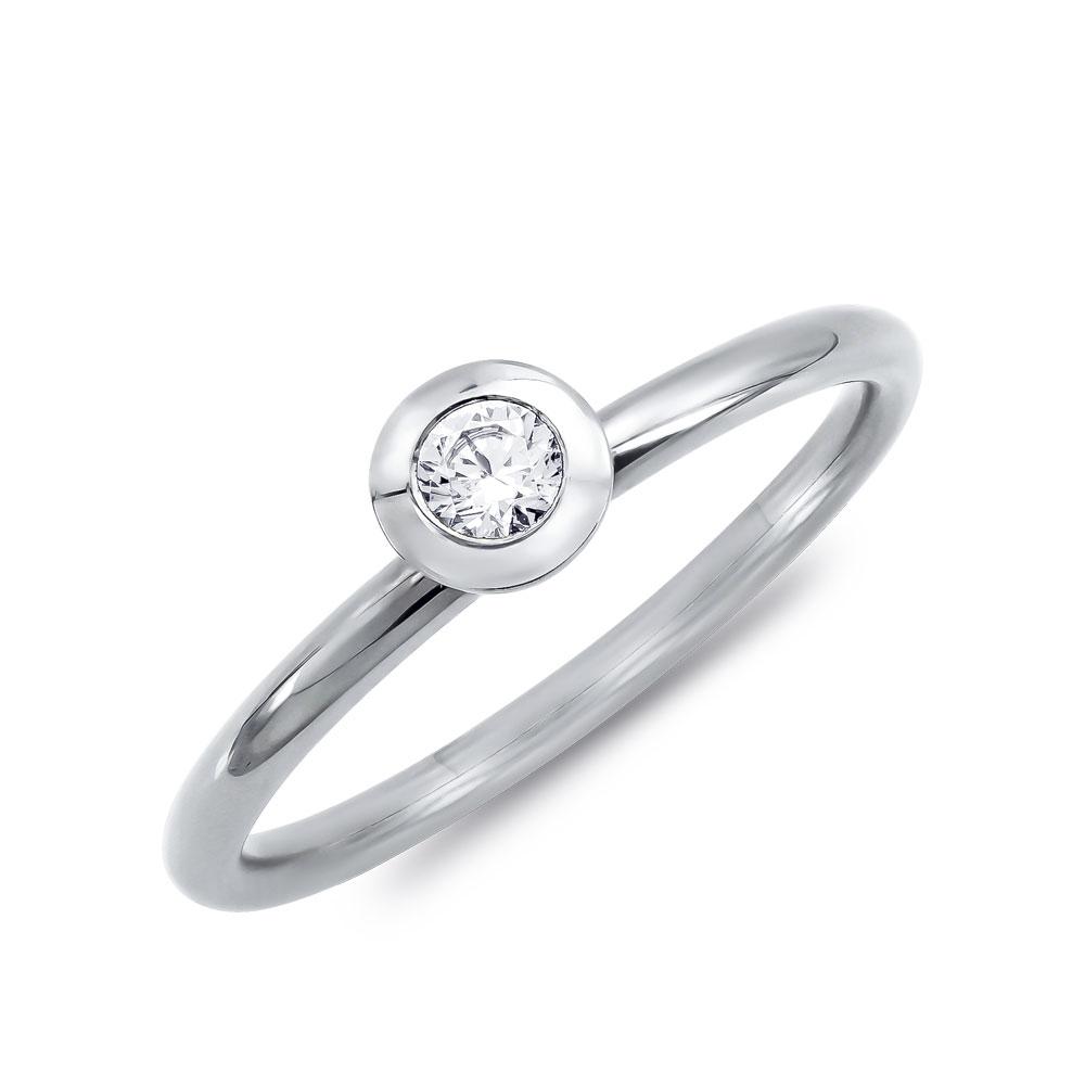 Μονόπετρο Δαχτυλίδι Breuning Με Διαμάντια Brilliant από Λευκό Χρυσό K18 DDX4757W