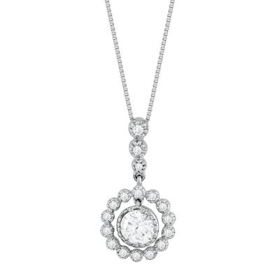 Koλιέ Με Διαμάντια Brilliant από Λευκό Χρυσό K18 KL33438