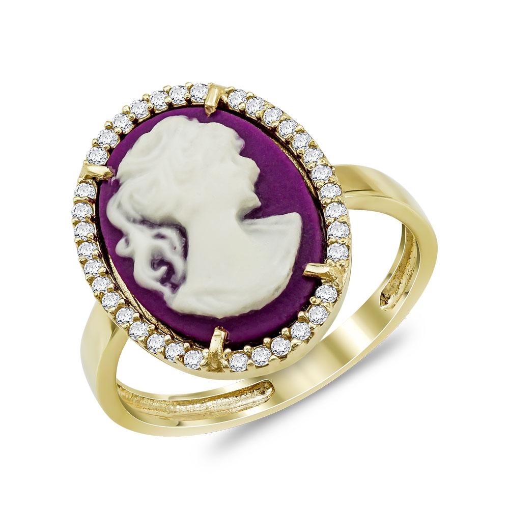 Δαχτυλίδι Cameo από Κίτρινο Χρυσό Κ14 DX972