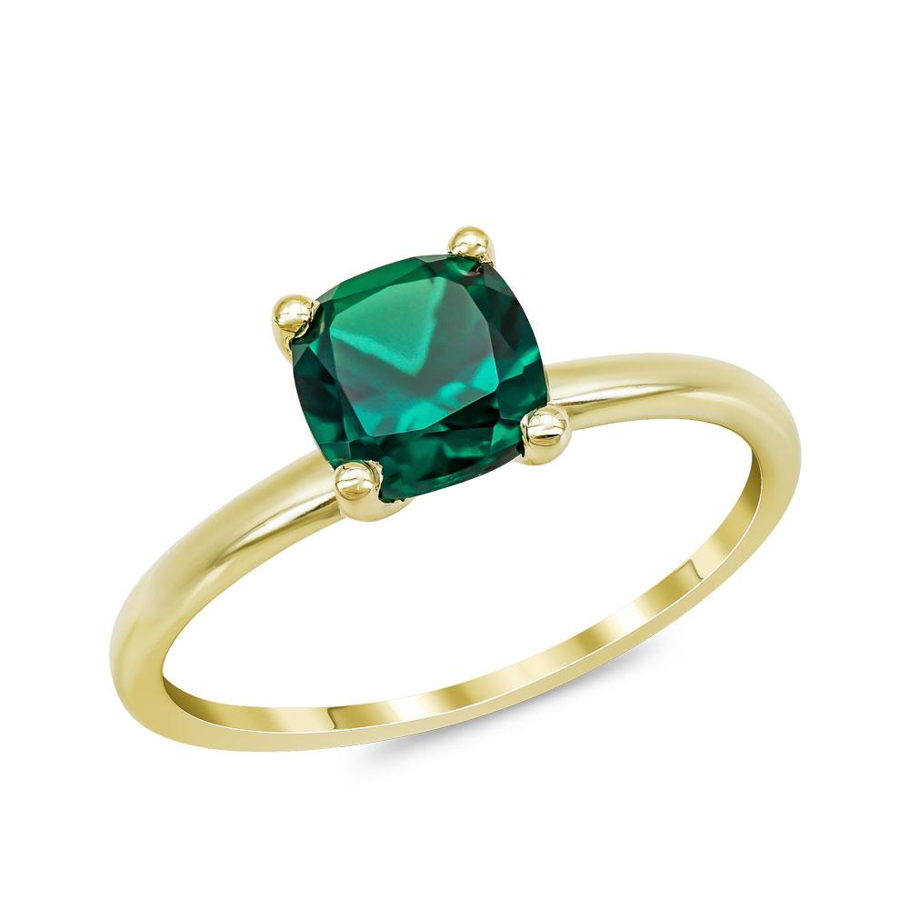Δαχτυλίδι με Σμαράγδι από Κίτρινο Χρυσό Κ18 DX965