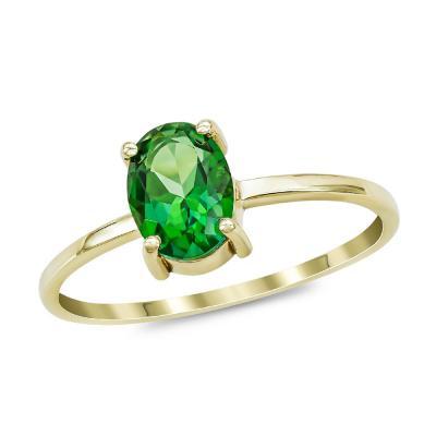 Δαχτυλίδι με Topaz Forest από Κίτρινο Χρυσό Κ14 DX968