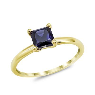 Δαχτυλίδι με Ζαφείρι από Κίτρινο Χρυσό Κ18 DX967
