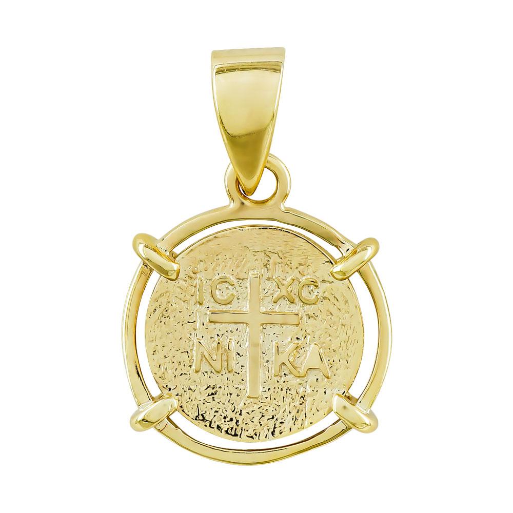 Κωνσταντινάτο Από Κίτρινο Χρυσό Κ14 KN292