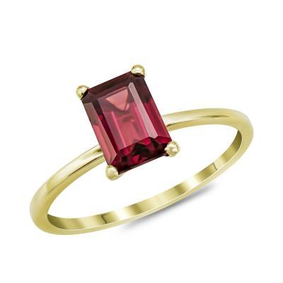 Δαχτυλίδι με Γρανάτη από Κίτρινο Χρυσό Κ14 DX970