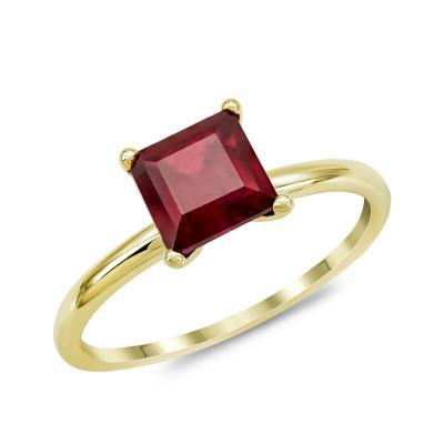 Δαχτυλίδι με Ρουμπίνι από Κίτρινο Χρυσό Κ18 DX966