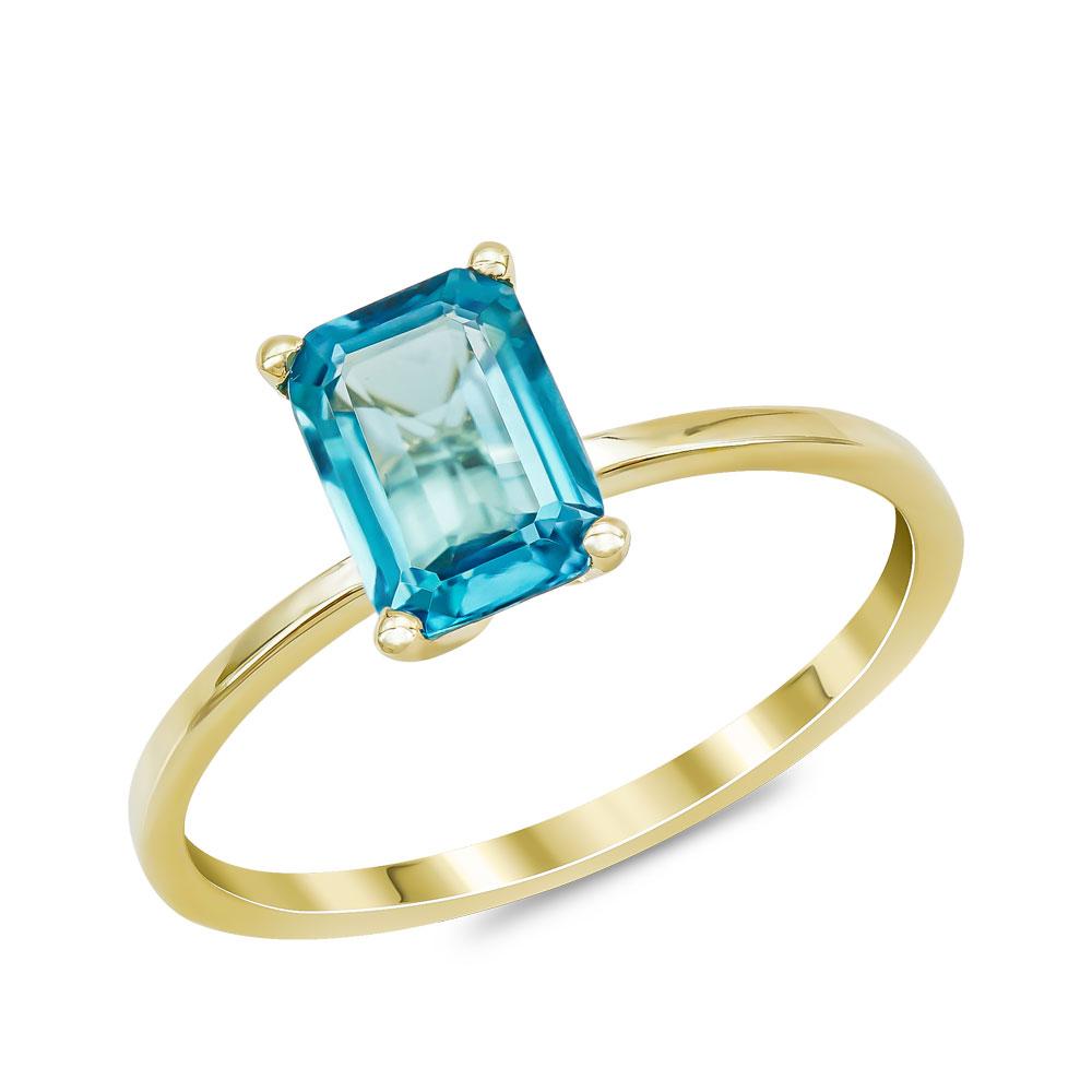 Δαχτυλίδι με Topaz London από Κίτρινο Χρυσό Κ14 DX969