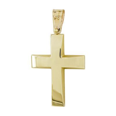 Σταυρός Βάπτισης Ανδρικός Σε Κίτρινο Χρυσό Κ9 ST2770