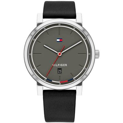 Tommy HILFIGER Thompson Black Leather Strap 1791735
