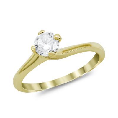 Μονόπετρο Δαχτυλίδι από Κίτρινο Χρυσό 14 Καρατίων DX979