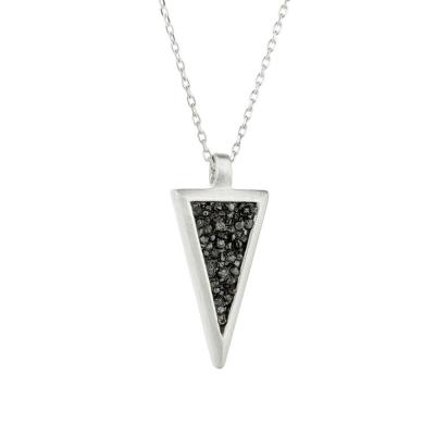 HONOR Κολιέ από Ασήμι Triangle With Diamonds SDP3SB