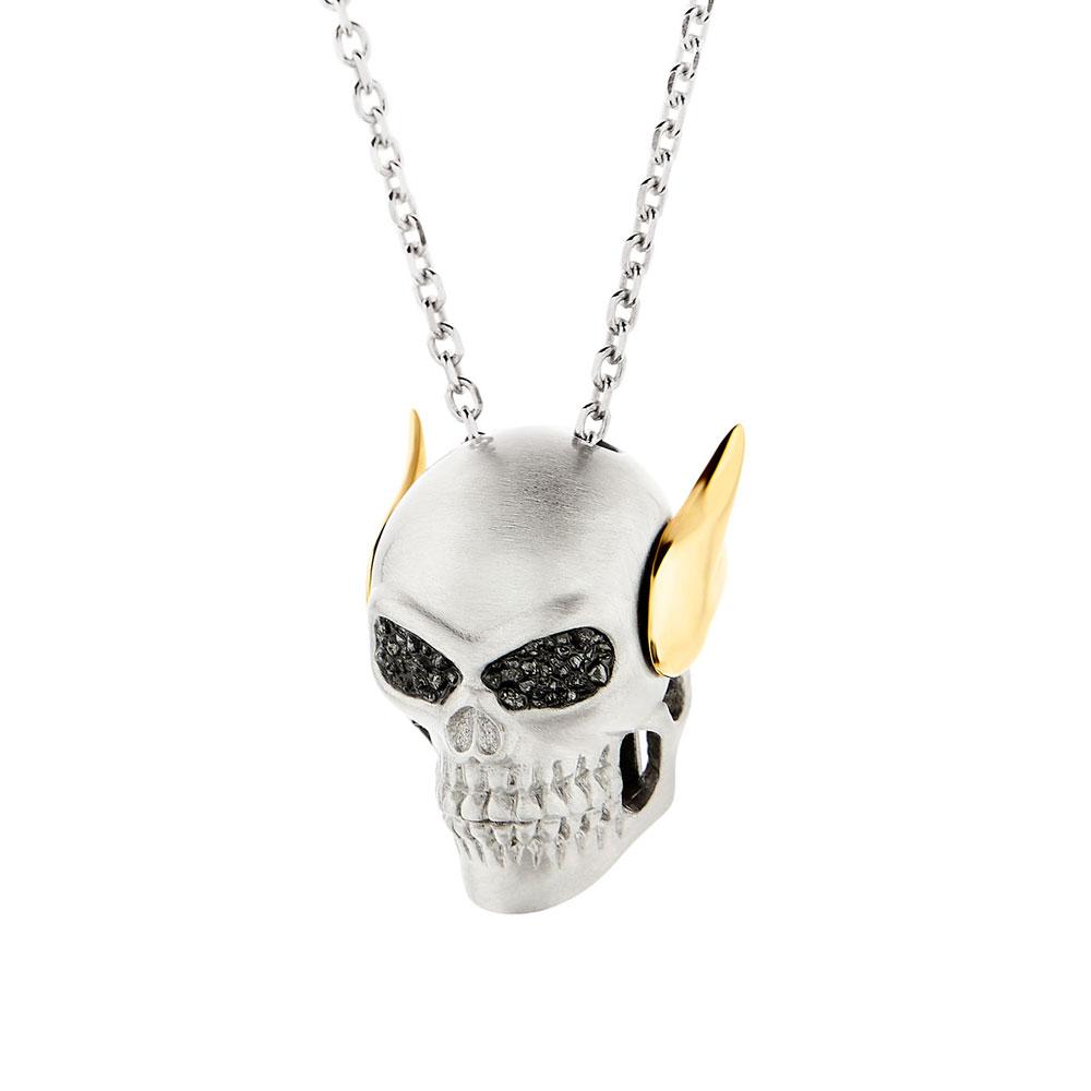 HONOR Κολιέ από Ασήμι Angel Skull With Diamonds SDS3SB