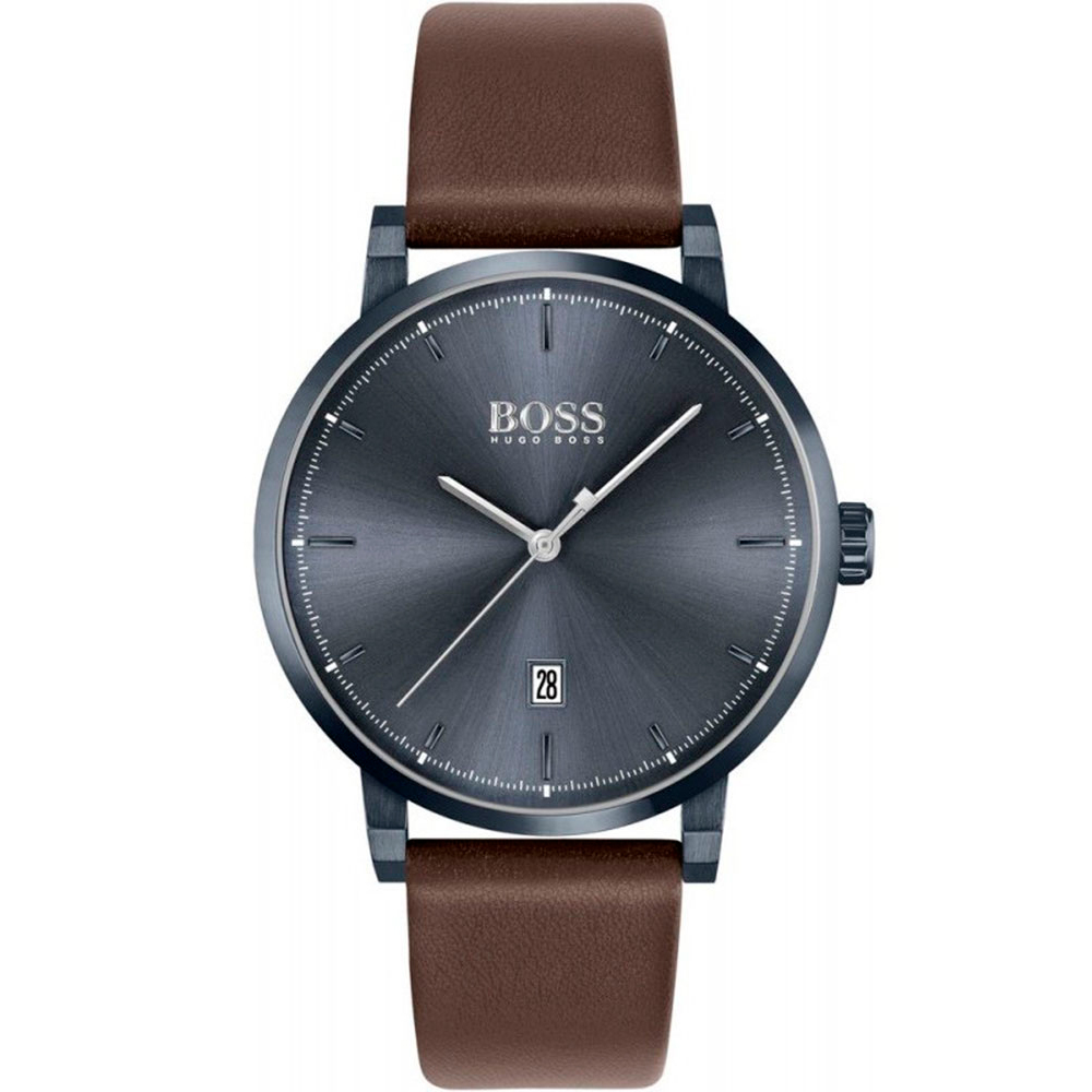 HUGO BOSS Confidence Brown Leather Strap 1513791